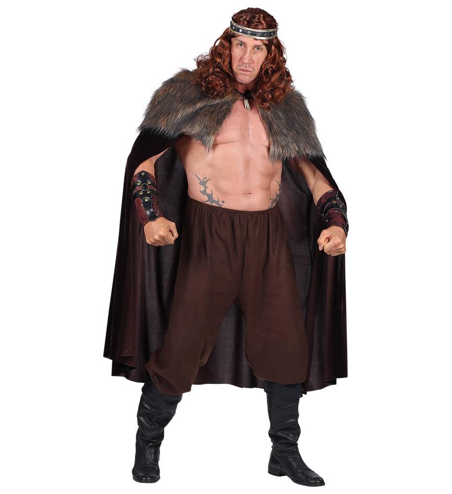 Brun Middelalder kappe med pelskant