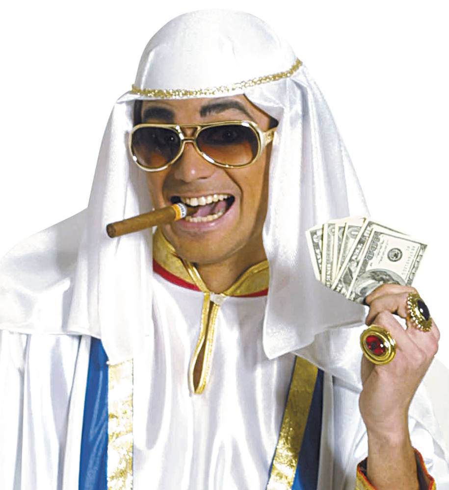 Arabisk Sheik Hatt Hvit