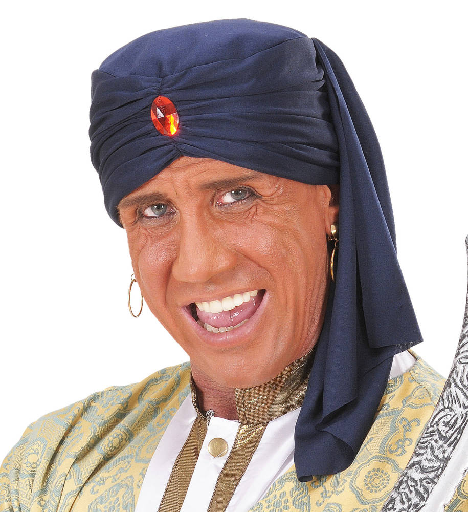 Ali Baba Turban Blå med Sten