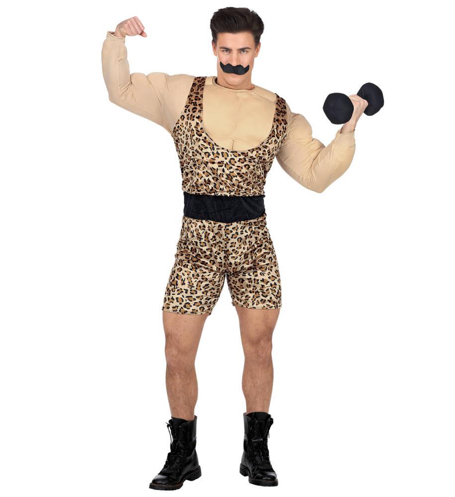 Bodybuilder Kostyme med Leopard Trikå