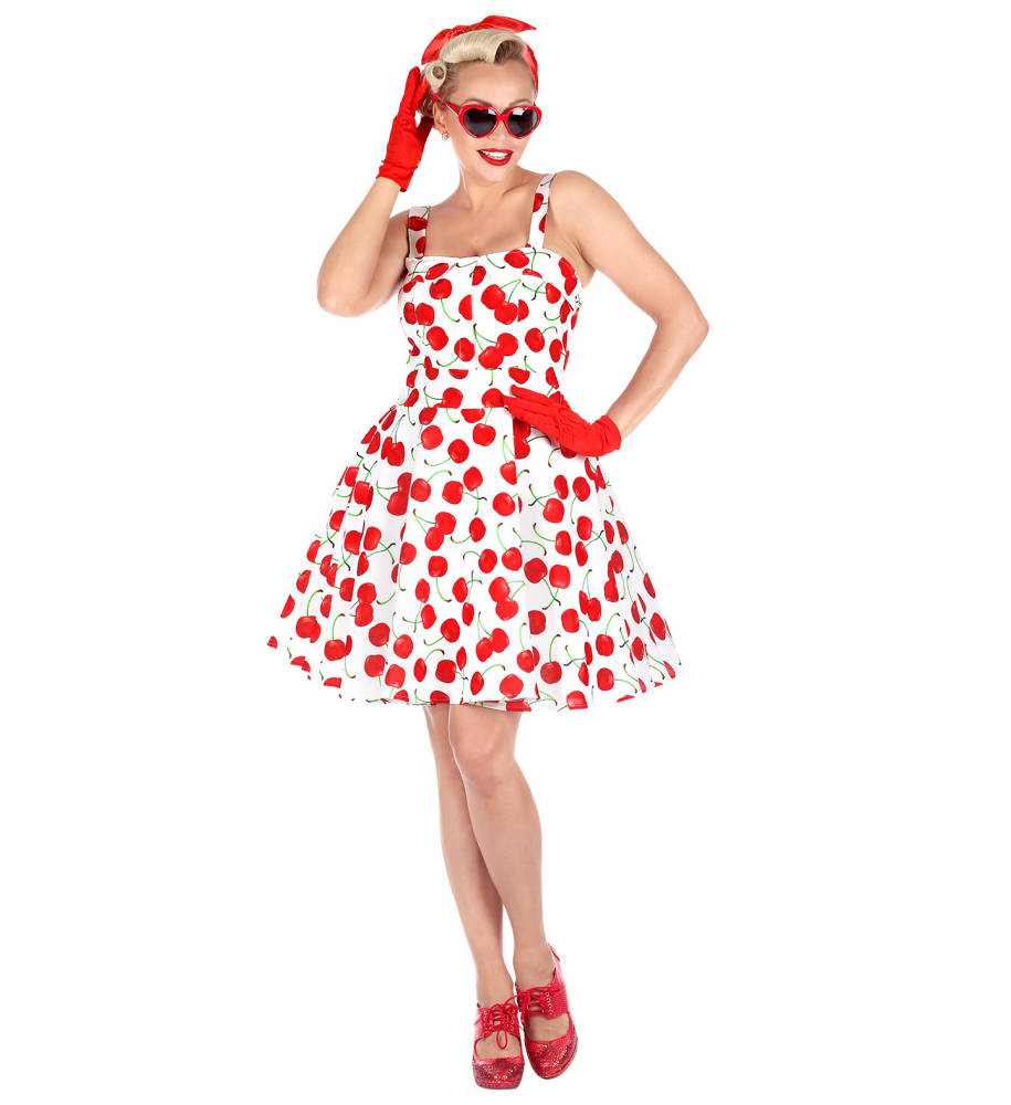 1950`s The Cherry Bomb Fashion Kjole