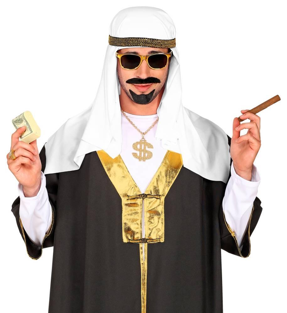 Arabisk Oljesheik Hodeplagg Hvit / Gull