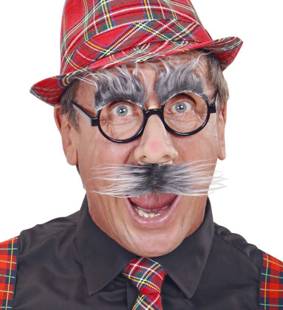 Briller med nese og øyenbryn