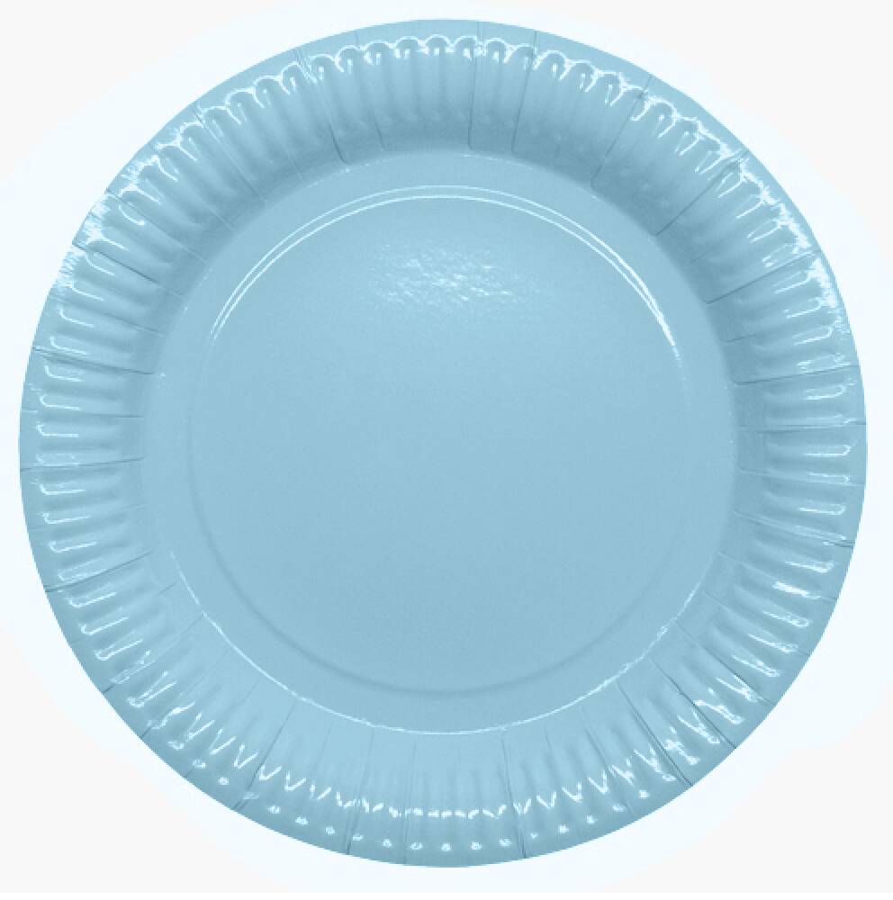 Babyshower Papptallerken Light Blue