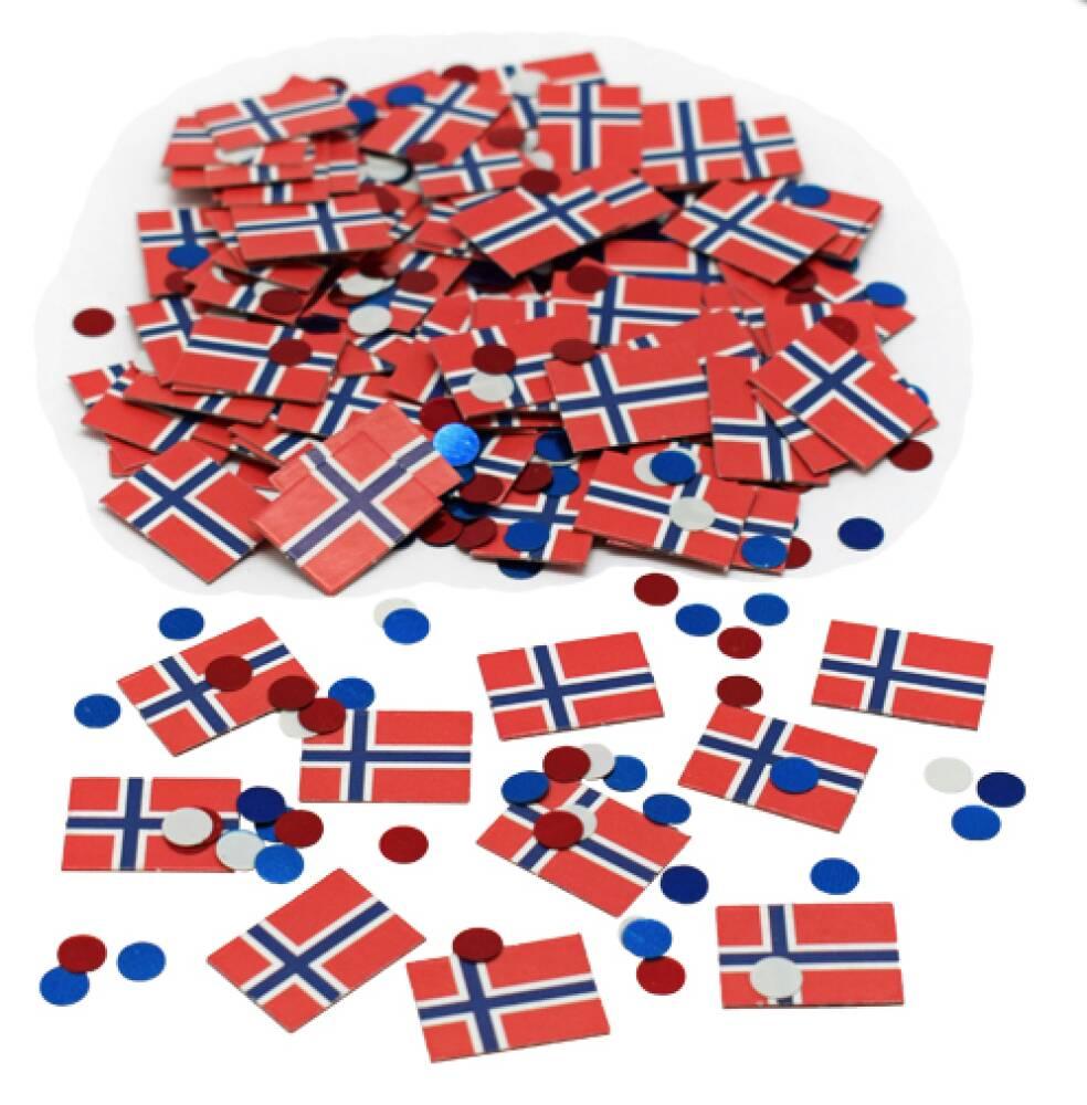 Norske Flagg konfetti