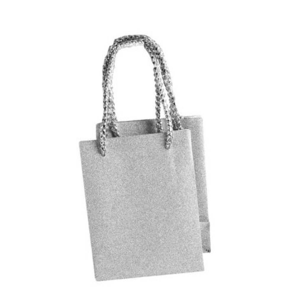 Gavepose liten, sølv
