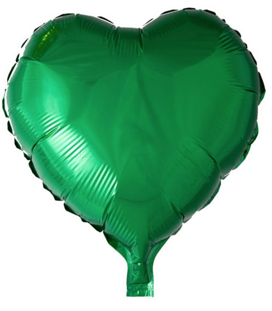 Folieballong Hjerte Grønn