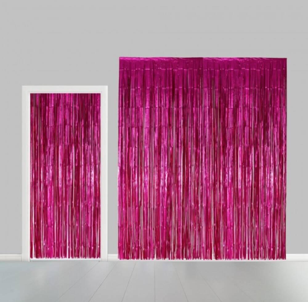 Backdrop Hot Pink Tinsel Dørbredde