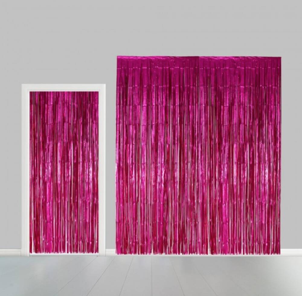 Backdrop Hot Pink Tinsel Dørbredde