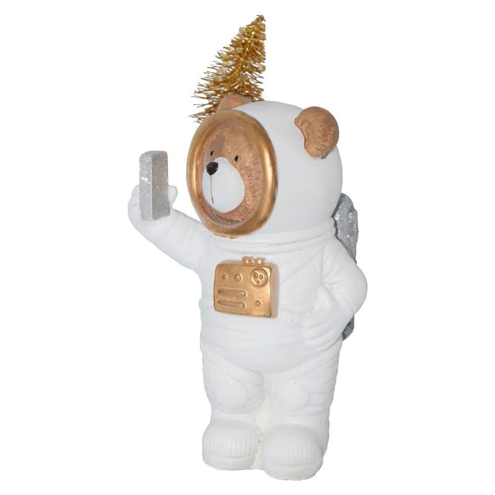 Julebjørn Astronaut med LED Lys