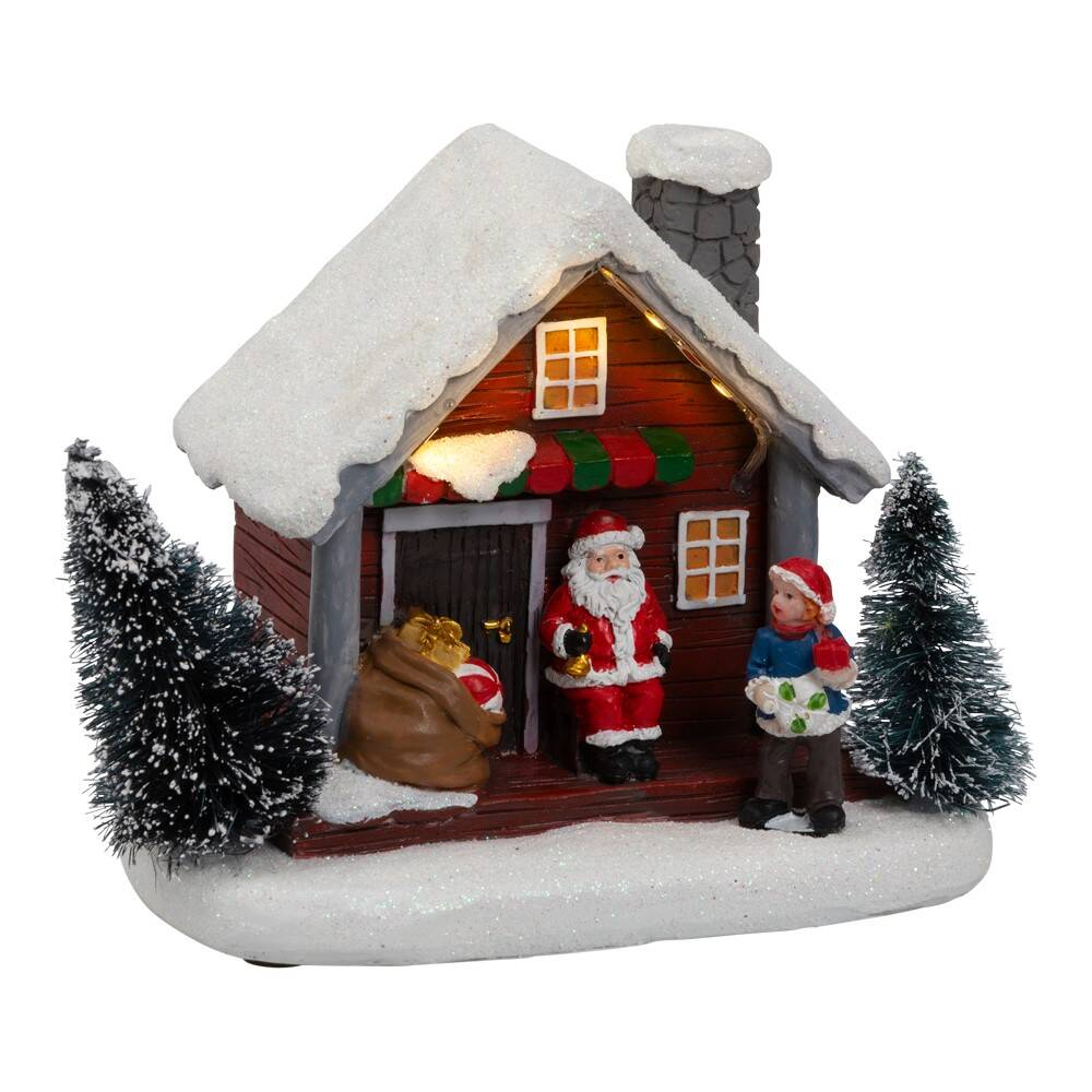 Julenissens Hus med Lys