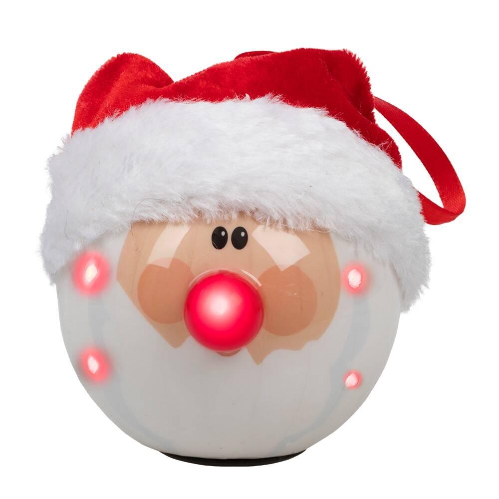 Julekule Nisse med LED lys