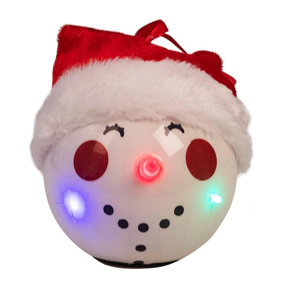 Julekule Snowman med LED lys
