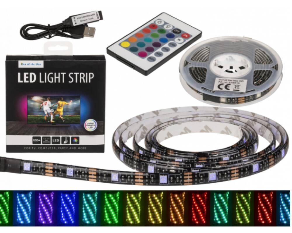 Lysende lenke - LED fargeskiftende ca 2 meter