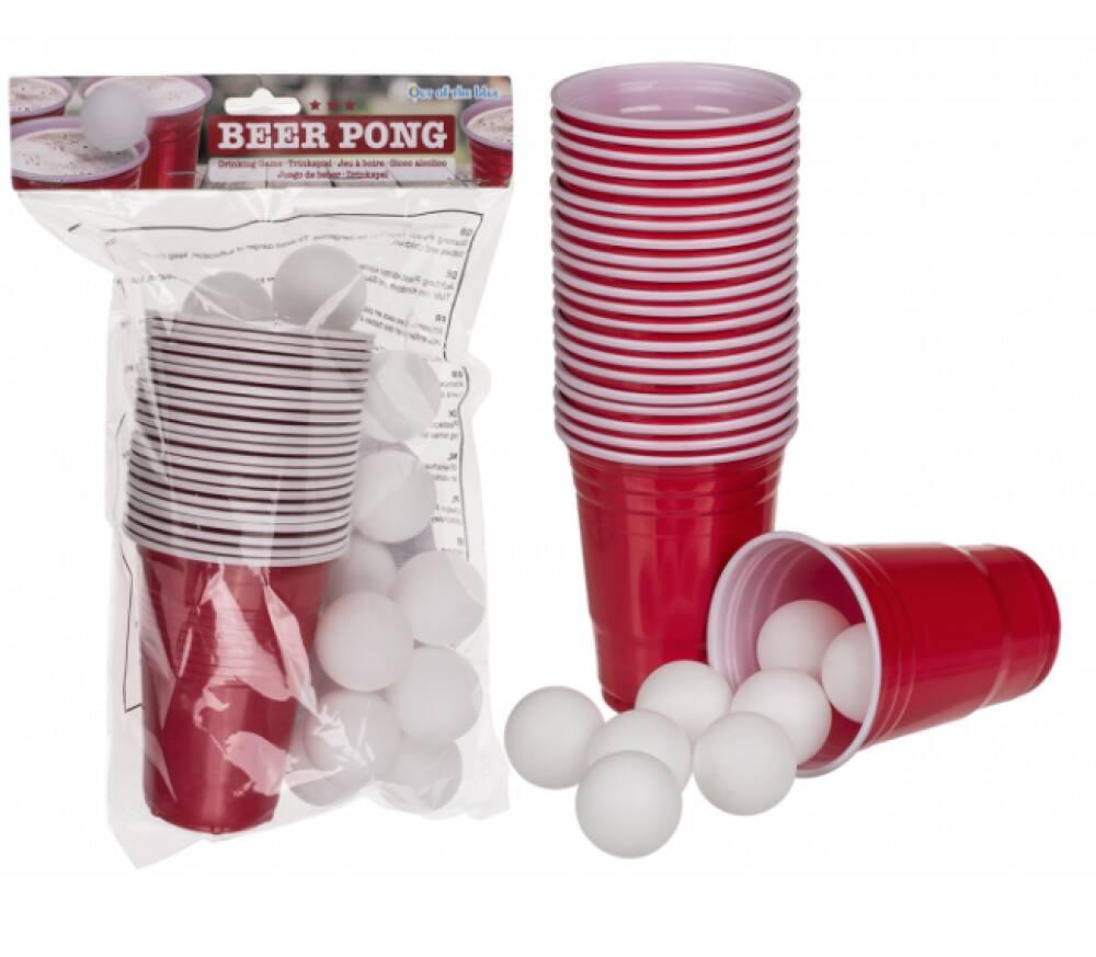 Beer Pong Spill med glass og baller