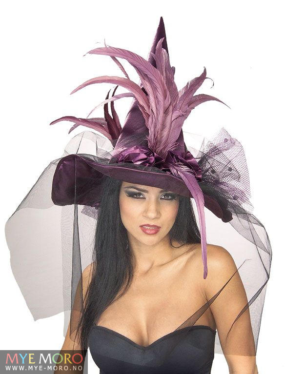Feather Witch Hatt DeLuxe