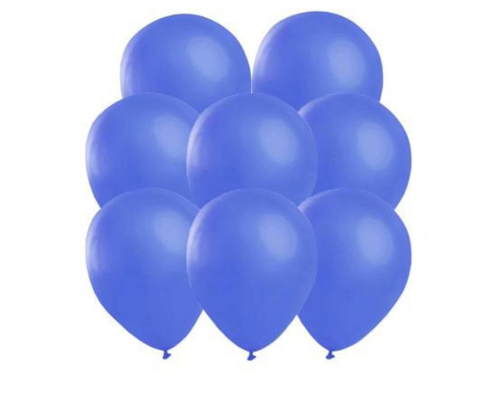 Ballonger Ensfarget Blå 25 stk i pakken