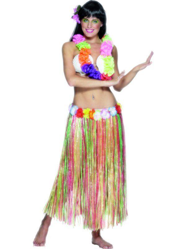 Bastskjørt Hawaii Multicolor Lang Unisex