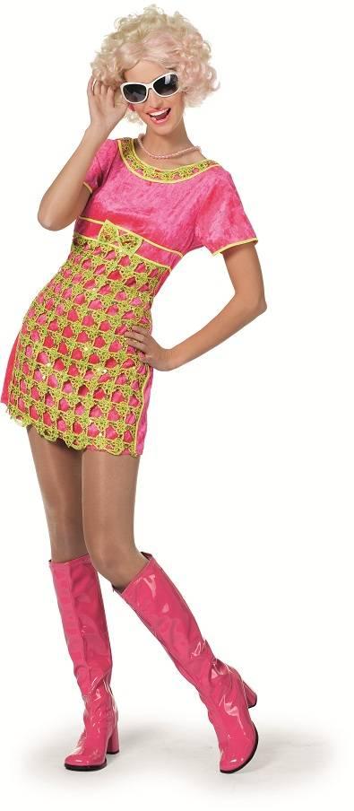 Fantasy Kjole Pink med Brokade