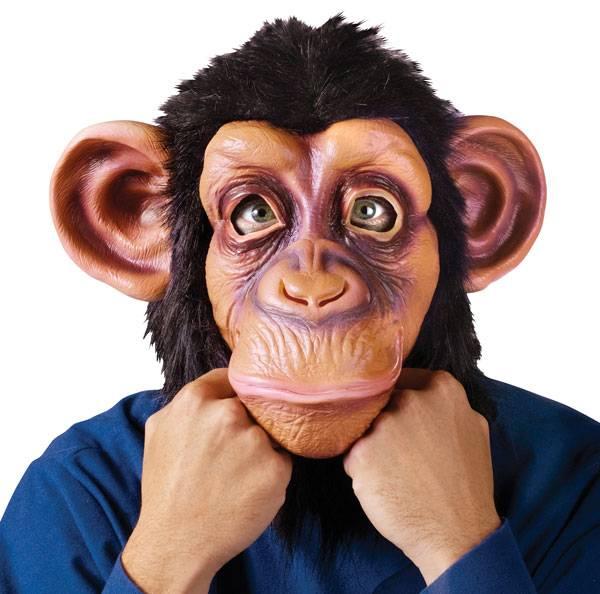 Chimpanse / Ape Maske DeLuxe