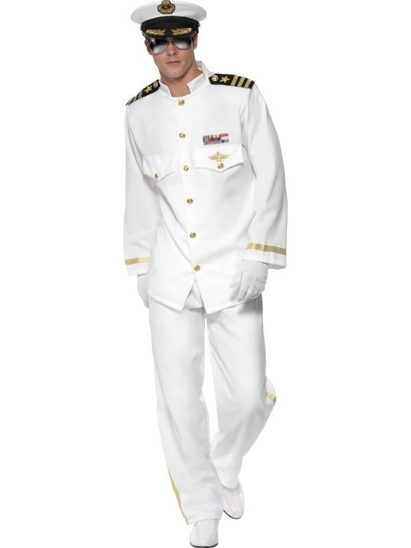 Captain Uniform Hvit DELUXE