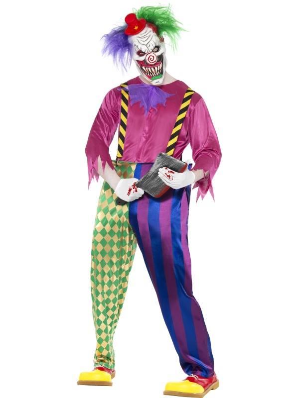 Colorful Killer Clown Kostyme Deluxe