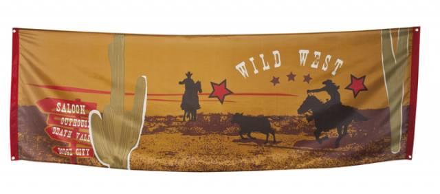 Banner i stoff Wild West 220*74 cm