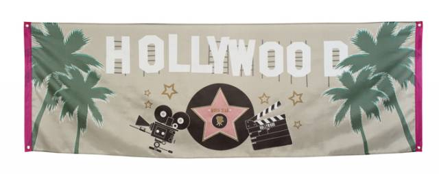 Banner i stoff HOLLYWOOD 220*74cm