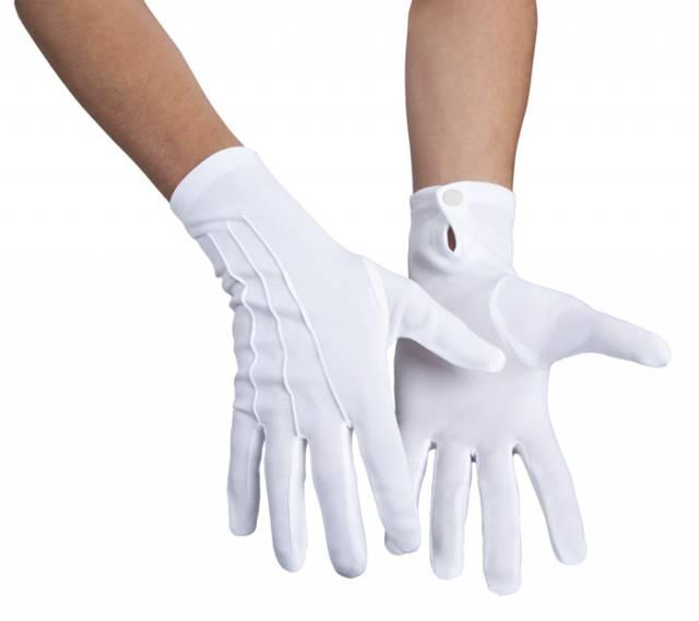 Hvite hansker Deluxe med SØM