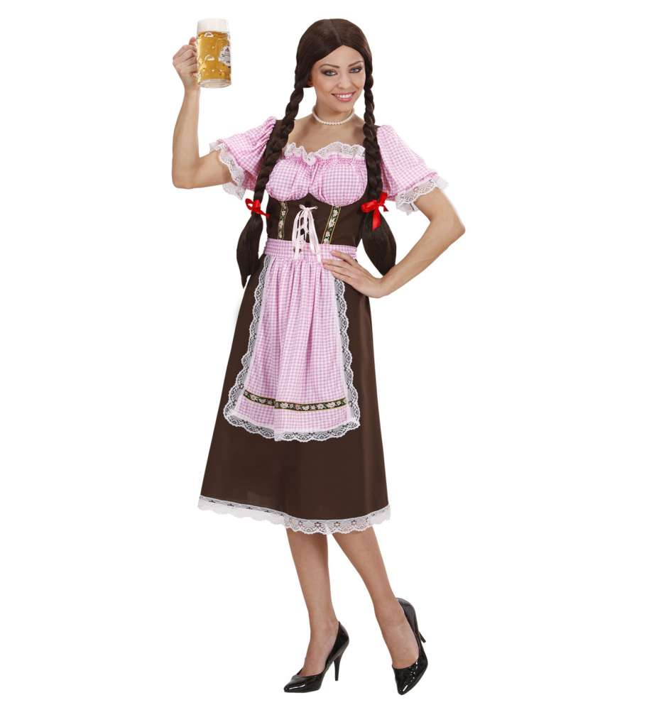 Bavarian Woman Brun Kjole