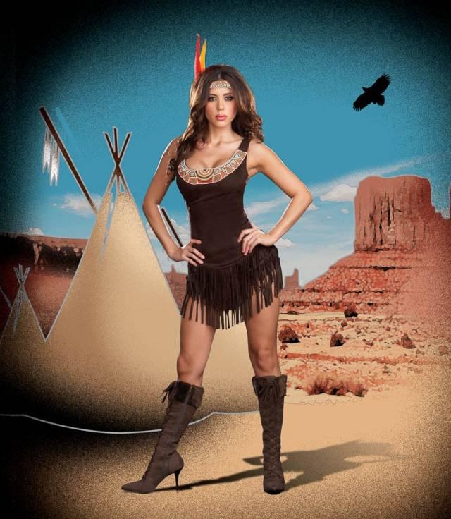 Dreamgirl Pocahottie Indianer kostyme dame