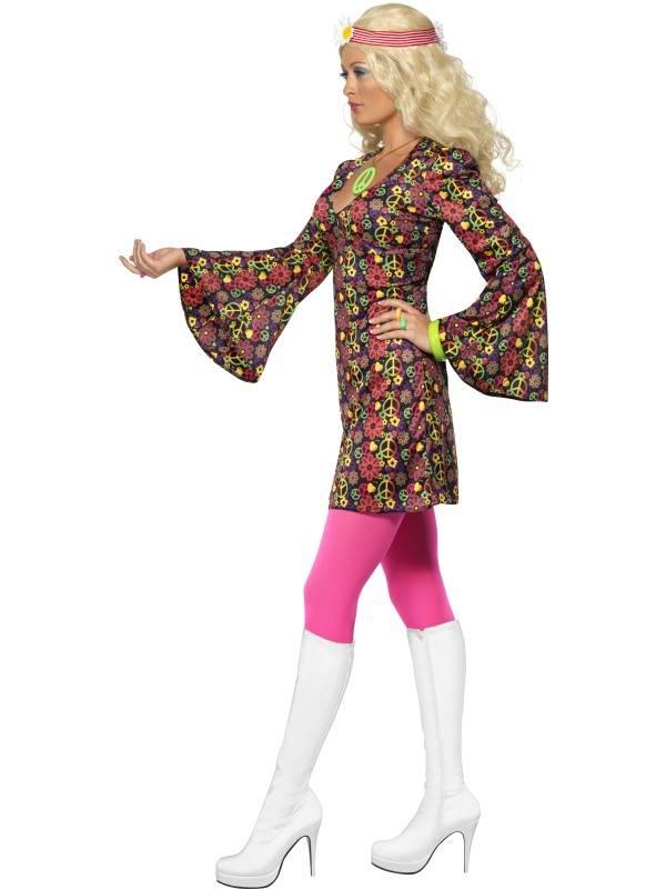 1960`s CND Hippie Kostyme Dame
