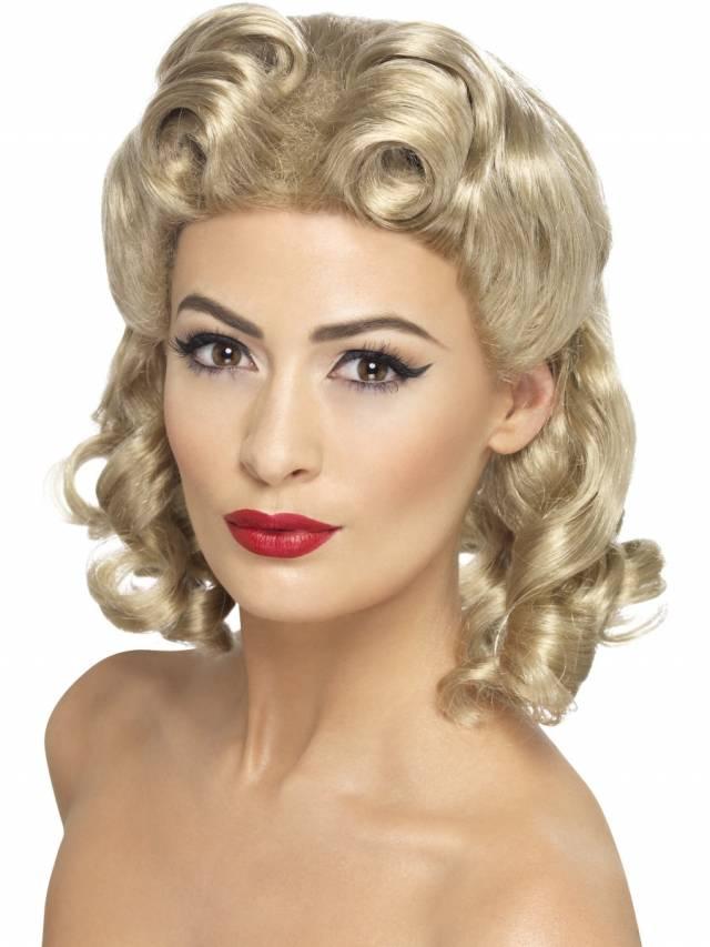 1940`s Sweet Heart Parykk Blond