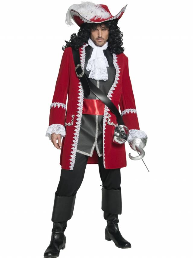 Authentic Pirate Captain Red Deluxe