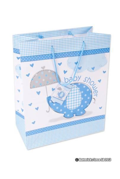 Baby Shower Gavepose Blå