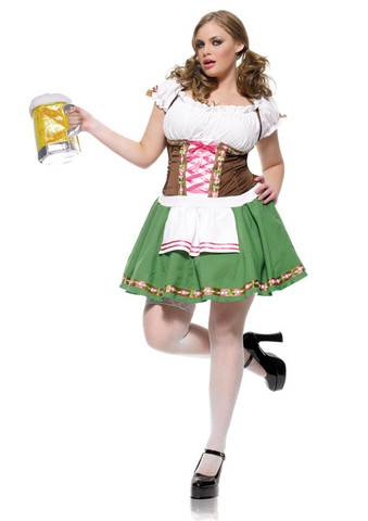 Gretchen Sexy Oktoberfest antrekk XL