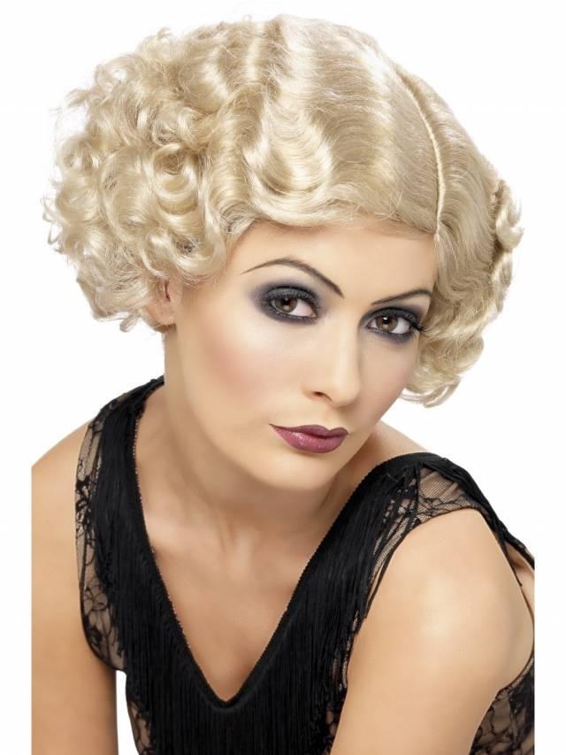 1920`s Flirty Flapper Parykk Blonde