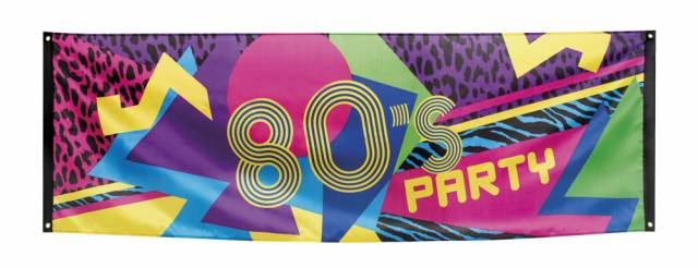1980`s Party Banner 220*74 cm stoff