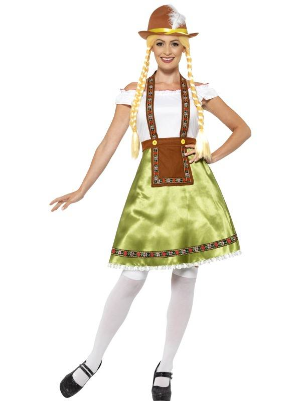 Bavarian Maid Costume Green