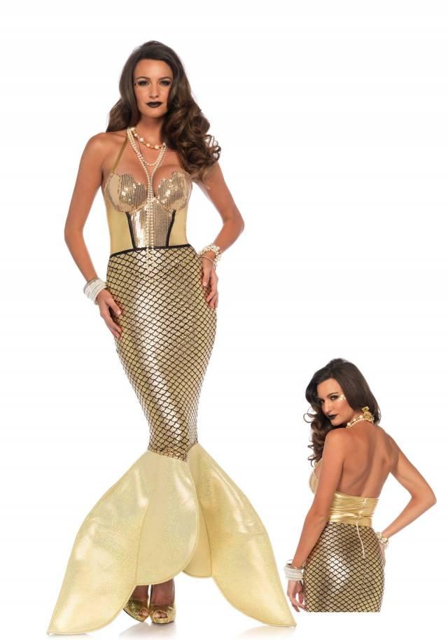 Golden Mermaid Sexy Havfrue Leg Avenue