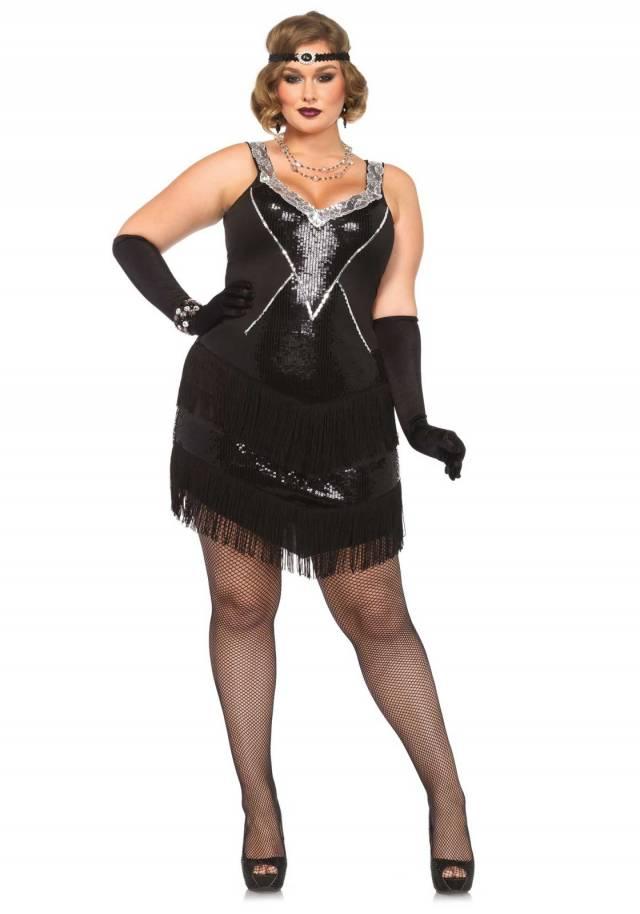 Glamour Flapper Plus Size Sexy Leg Avenue