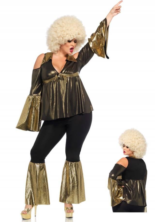 Disco Diva Golden Plus Size Leg Avenue