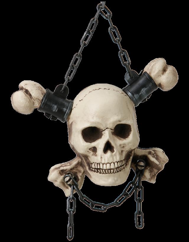 Cross Bones Veggdekor Dødskalle