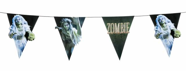 Banner Zombie Flagg 4 meter 2 sidig