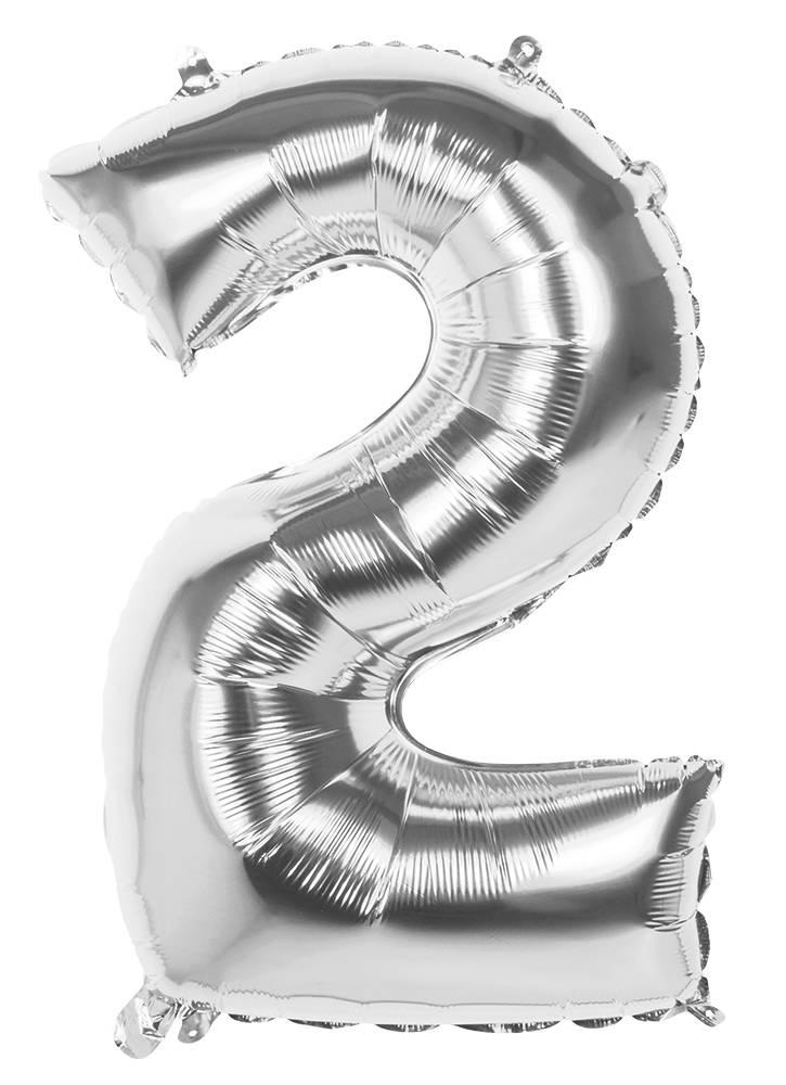 2 Tallballong Jumbo 86 cm Sølv