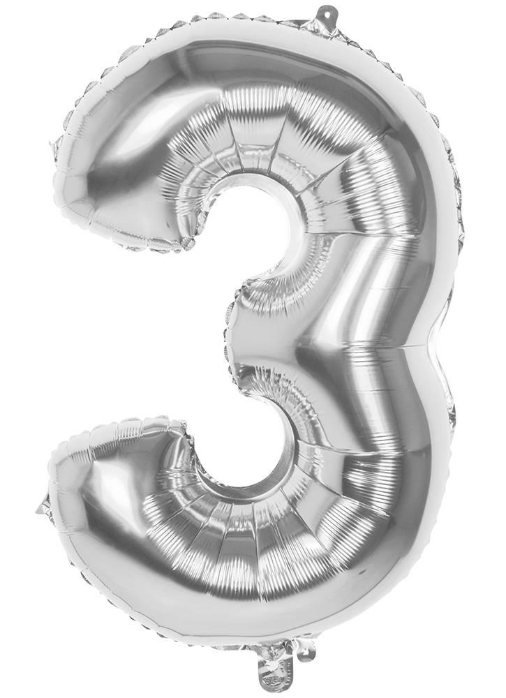 3 Tallballong Jumbo 86 cm Sølv