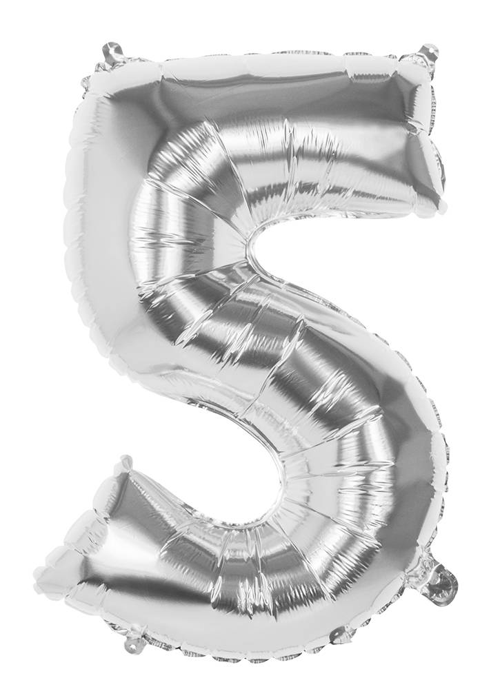 5 Tallballong Jumbo 86 cm Sølv