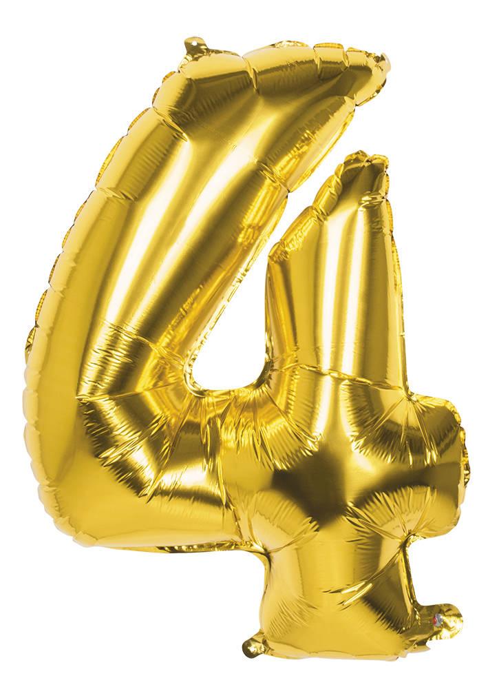 4 Tallballong Folie Jumbo 86cm GULL