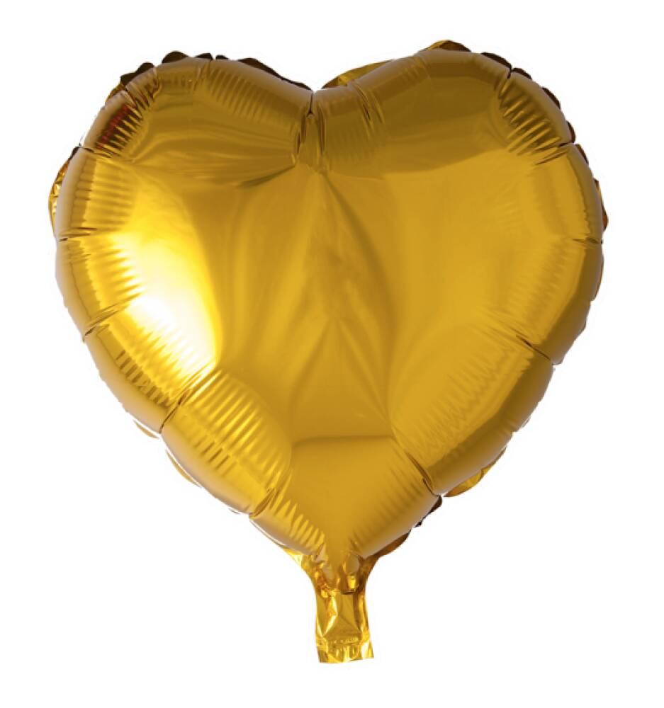 Folieballong Hjerte Gull