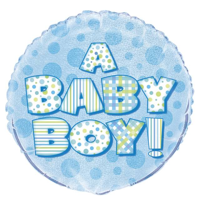 Folieballong A BABY BOY Prismatic